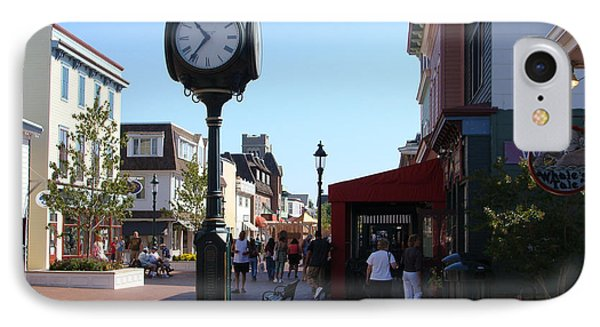 Checking Out The Shops In Cape May IPhone Case by Rod Jellison