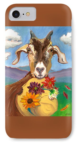 IPhone Case featuring the painting Cheeky Goat by Susan Thomas