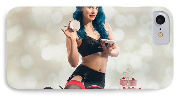 Cheeky Pin Up Girl IPhone Case by Amanda Elwell