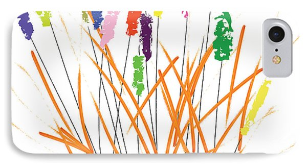 Cheerful Cattails IPhone Case