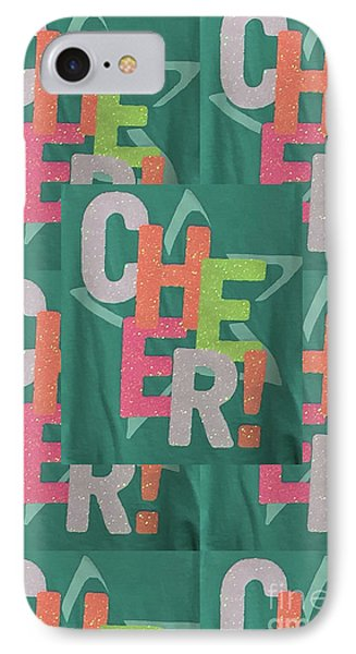 IPhone Case featuring the photograph Cheers Cheerful Text See On Tshirts Pillows Curtains Towels Duvet Covers Phones Christmas Holidays  by Navin Joshi