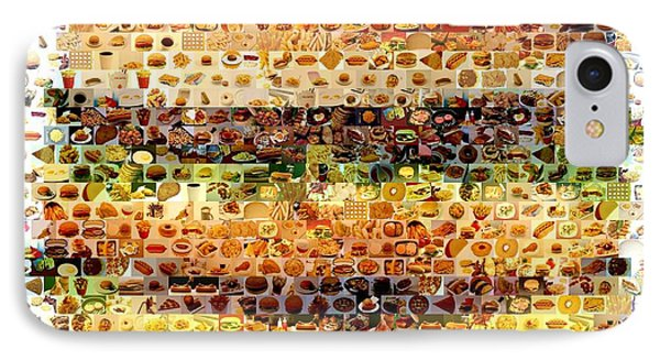 IPhone Case featuring the mixed media Cheeseburger Fast Food Mosaic by Paul Van Scott