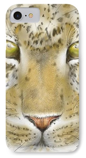 Cheetah Face IPhone Case by Darren Cannell