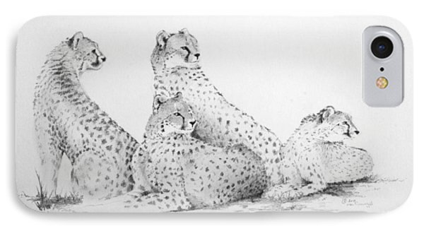 Cheetah Group Phone Case by Alan Pickersgill