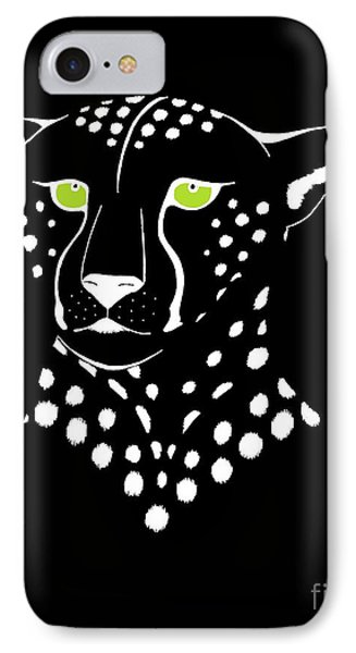 Cheetah Inverted IPhone Case by Alycia Christine