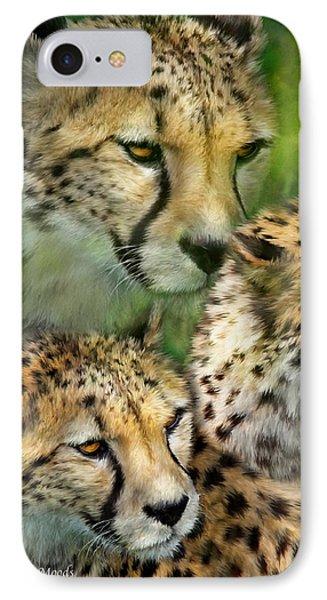 Cheetah Moods IPhone 7 Case by Carol Cavalaris
