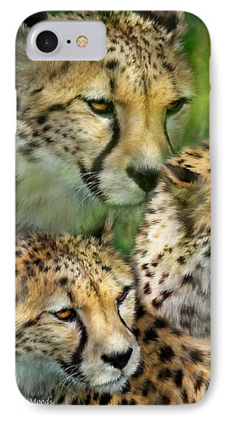 Cheetah Moods IPhone Case by Carol Cavalaris