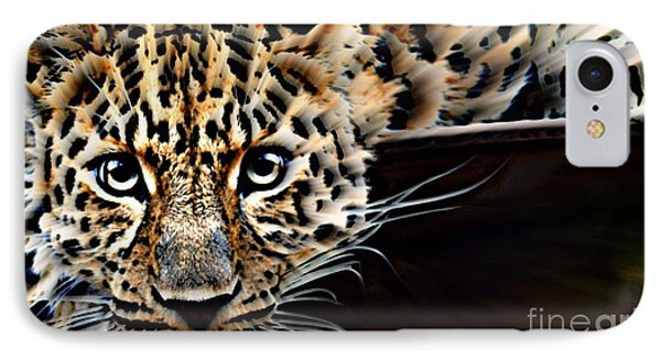 Cheetah On The Ledge IPhone Case by Wbk