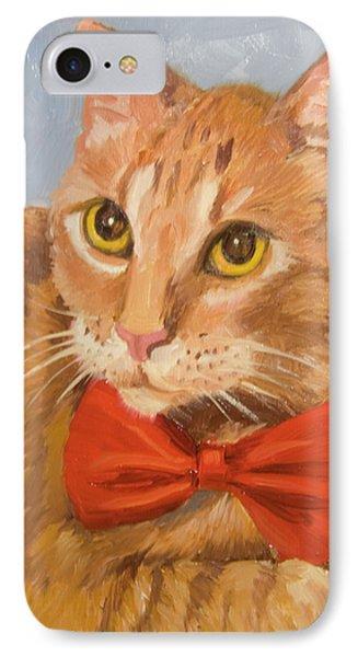 Cheetoh Cat Portrait IPhone Case by Alice Leggett
