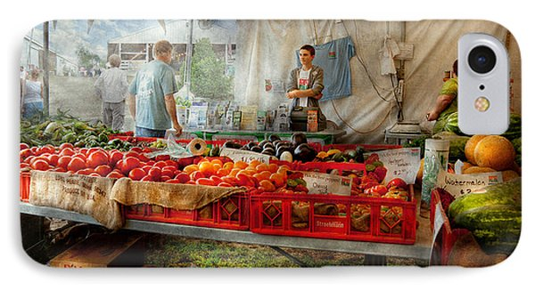 Chef - Vegetable - Jersey Fresh Farmers Market Phone Case by Mike Savad