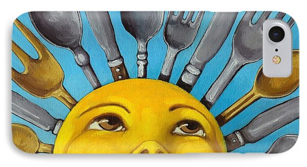 Chefs Delight - Cbs Sunday Morning Sun Art  IPhone Case by Linda Apple