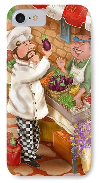 Chefs Go To Market I IPhone Case by Shari Warren