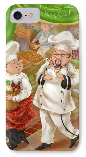 Chefs Go To Market IIi IPhone Case by Shari Warren