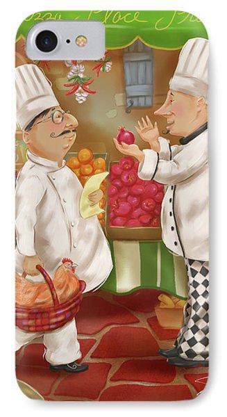 Chefs Go To Market Iv IPhone Case by Shari Warren
