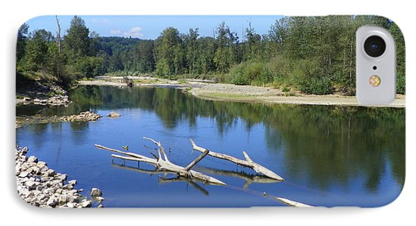 Chehalis River Washington Phone Case by Laurie Kidd