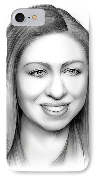 Chelsea Clinton IPhone 7 Case by Greg Joens