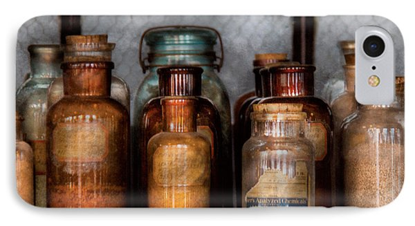 Chemist - Various Chemicals Phone Case by Mike Savad