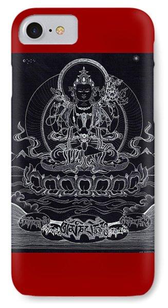Chenrezig/ Avalokiteshvara IPhone Case by Berty Sieverding