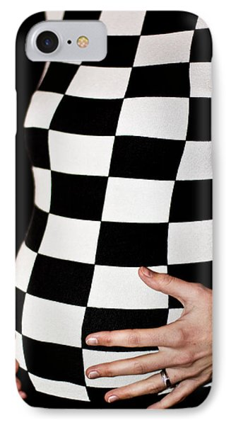 IPhone Case featuring the photograph Chequered Pregnancy by Gabor Pozsgai