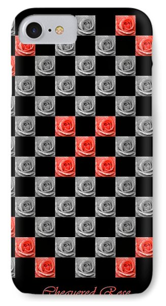 Chequered Rose IPhone Case by Hazy Apple