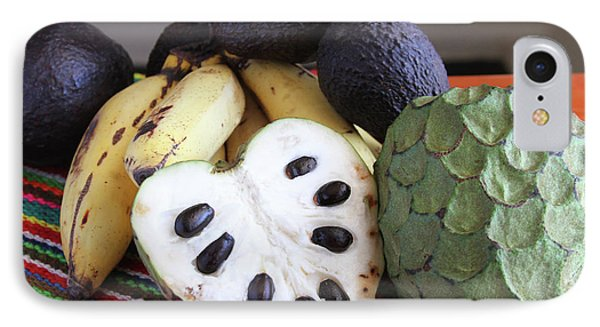 Cherimoya Fruit With Bananas And Avocados IPhone Case