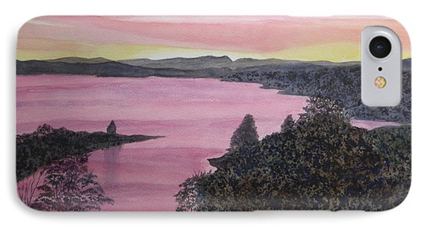 IPhone Case featuring the painting Cherokee Lake Sunset by Joel Deutsch