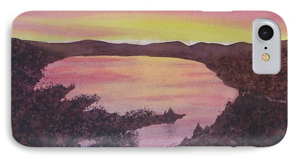 IPhone Case featuring the painting Cherokee Lake Sunset Number Seven by Joel Deutsch