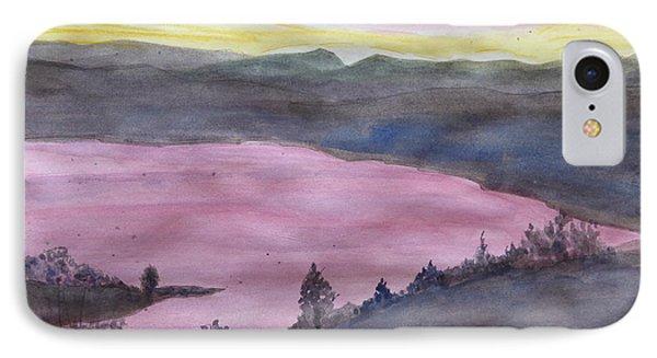 IPhone Case featuring the painting Cherokee Lake - Watercolor Sketch  by Joel Deutsch