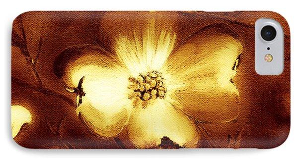 Cherokee Rose Dogwood - Single Glow IPhone Case by Jan Dappen