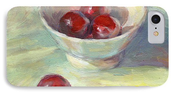 Cherries In A Cup On A Sunny Day Painting IPhone Case by Svetlana Novikova