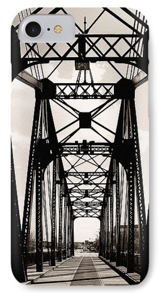 Cherry Avenue Bridge IPhone Case by Kyle Hanson