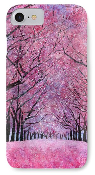 IPhone Case featuring the painting Cherry Blast by Hailey E Herrera