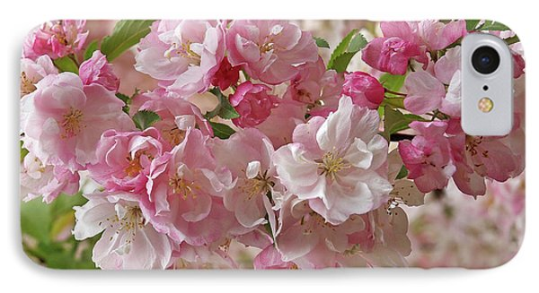 IPhone Case featuring the photograph Cherry Blossom Closeup by Gill Billington