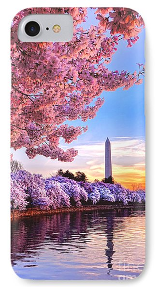 Cherry Blossom Festival  IPhone 7 Case by Olivier Le Queinec
