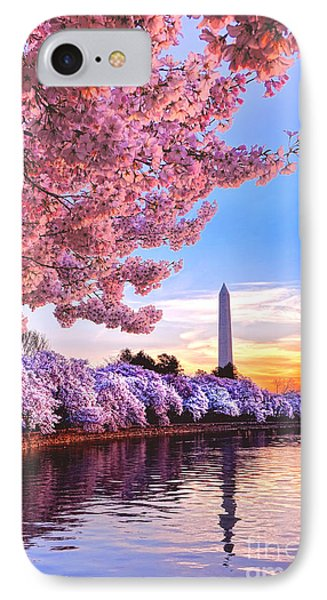 Cherry Blossom Festival  IPhone Case by Olivier Le Queinec