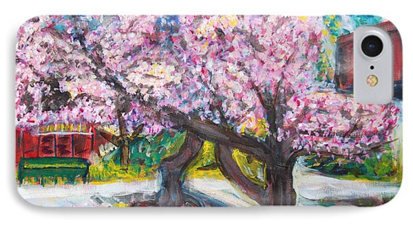 Cherry Blossom Time Phone Case by Carolyn Donnell