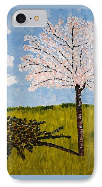 Cherry Blossom Tree IPhone Case by Valerie Ornstein