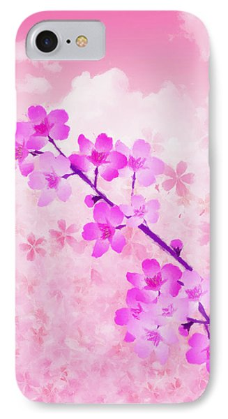Cherry Blossom - Variation 4 IPhone Case