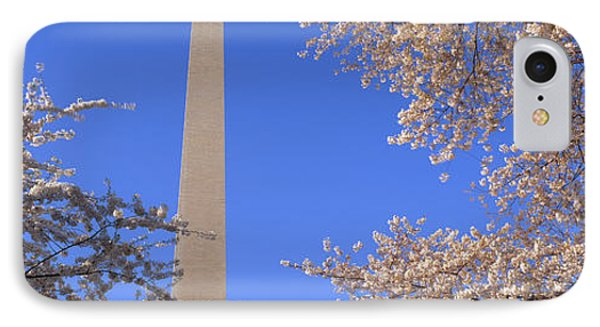Cherry Blossoms And Washington IPhone Case by Panoramic Images