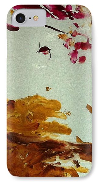 Cherry Blossoms IIi Phone Case by Luz Elena Aponte