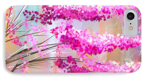 Cherry Blossoms Impressionist IPhone Case by Lourry Legarde