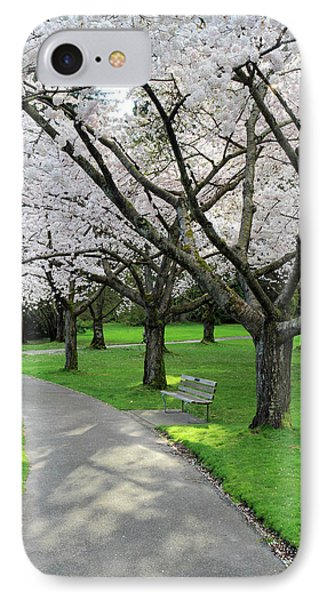 Cherry Blossoms In Stanley Park Vancouver Phone Case by Pierre Leclerc Photography