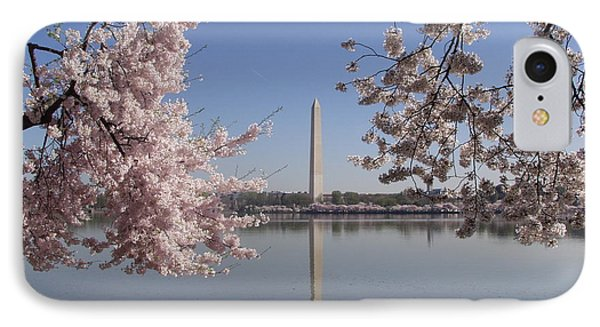 Cherry Blossoms Monument Phone Case by April Sims