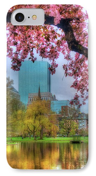 IPhone Case featuring the photograph Cherry Blossoms Over Boston by Joann Vitali