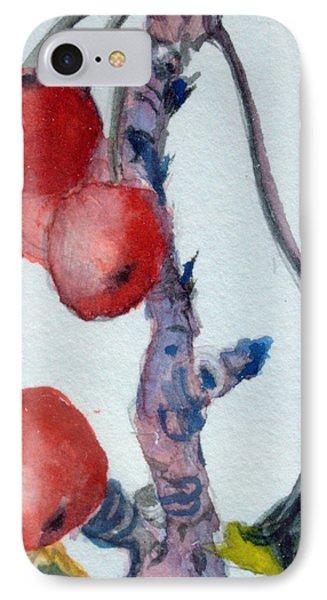 Cherry Branch IPhone Case by Mindy Newman
