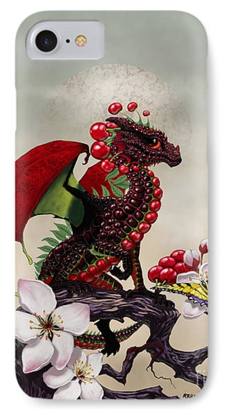 IPhone Case featuring the digital art Cherry Dragon by Stanley Morrison