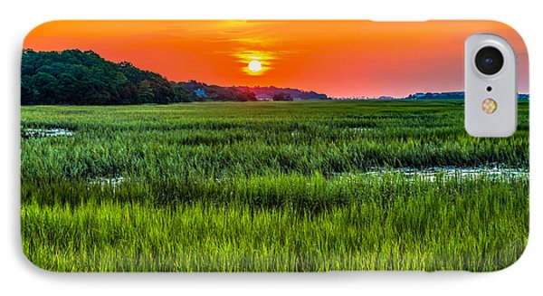 Cherry Grove Marsh Sunrise IPhone Case