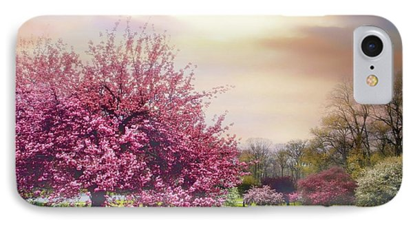 IPhone 7 Case featuring the photograph Cherry Orchard Hill by Jessica Jenney