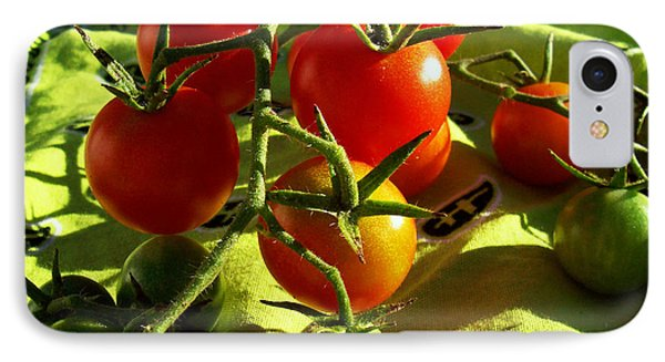 IPhone Case featuring the photograph Cherry Tomatoes by Shawna Rowe