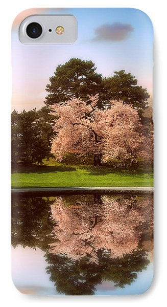 Cherry Tree Fountain  IPhone Case by Jessica Jenney